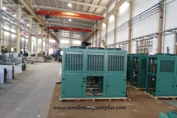 air cooled condenser workshop for cold room in onlykem factory