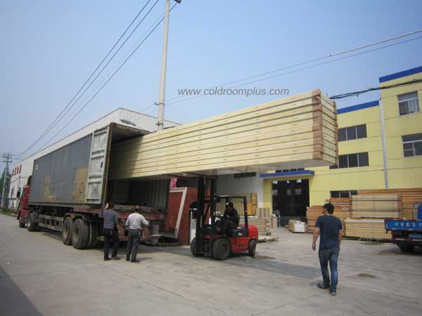 loading container for Corn Refrigeration Cold Room
